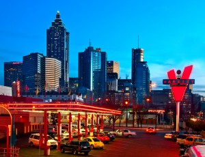 Atlanta Skyline from the Varsity